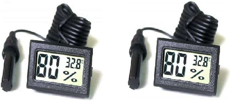 Ytian Color Negro Sintonizador Digital Integrado con term/ómetro higr/ómetro con sonda Externa para incubadora Acuario y Aves de Corral