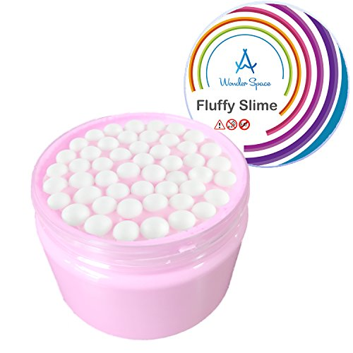 Foam Fluffy Slime - 7 OZ Pink Jumbo Scented Sludge Slime Stress Relief Toy for Kids and Adults, Super Soft & Non-sticky, Children Arts Crafts Party School Supplies by Wonder Space (Birthday Cake)