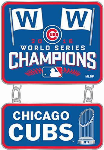 aminco Chicago Cubs 2016 World Series Champions Pin Dangler 13317