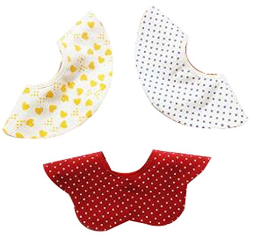 3 piezas de baberos para bebés baberos de alimentación para bebés [F]