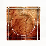 Tobacco Leaf Print Crystal Cigar Ashtray, For 4