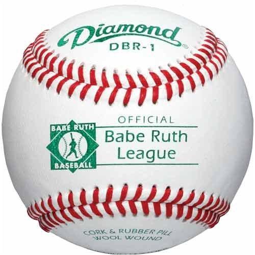 Grade Babe Ruth Raised Seam (Diamond Babe Ruth Competition Grade Baseball, Dozen)