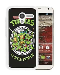 Custom Luxury Cover Case With Teenage Mutant Ninja Turtles White Moto X Case