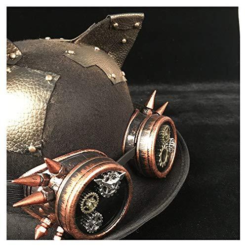 Lunettes Luxe Chapeaux Top Casquettes Black Cosplay Topper Jd Dôme Jiurui De Et Wome Steampunk Hommes Chapeau Bowler 7qxpC10