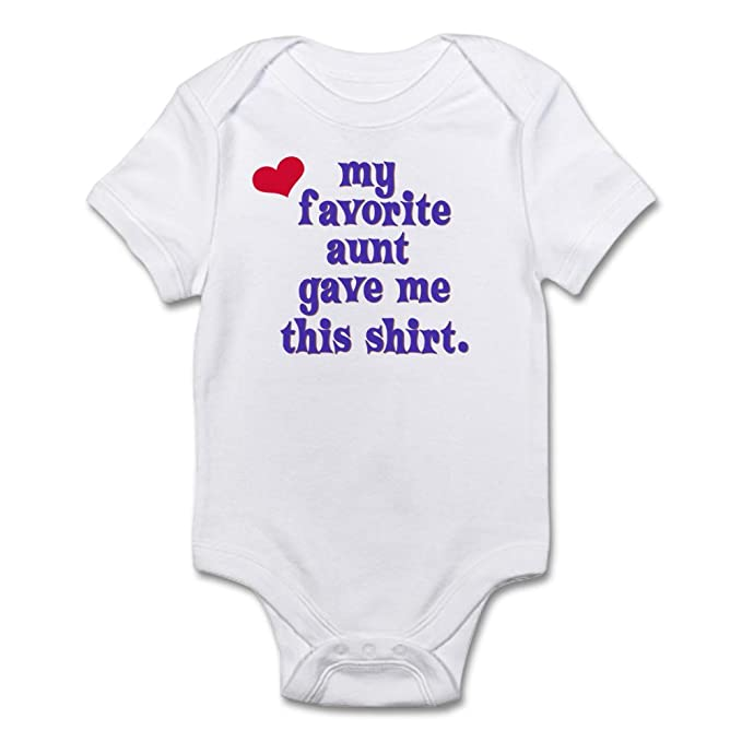 7c57f1233 CafePress - Favorite-Aunt Body Suit - Cute Infant Bodysuit Baby ...