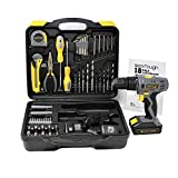 Toolman Cordless Drill Screwdriver 77pc w/Hex key measure tape knife drill bit socket works with DeWalt Makita Ryobi