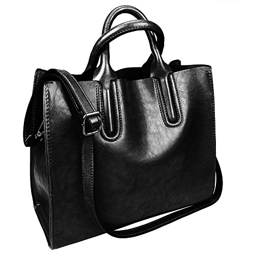 Fantastic-Zone-Oil-Wax-Leather-Women-Top-Handle-Satchel-Handbags-Shoulder-Bag-Purse-Messenger-Tote-Bag
