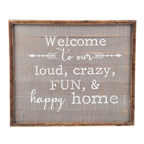 Foreside FWAD04149 Welcome to This Home Wall Art (Our To Home Decor Welcome)