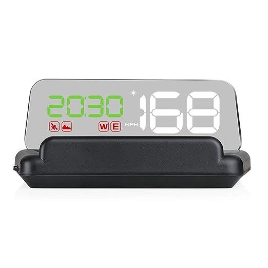 ZHUOYUE T900 HUD Head Up Display GPS para automóvil Velocímetro ...