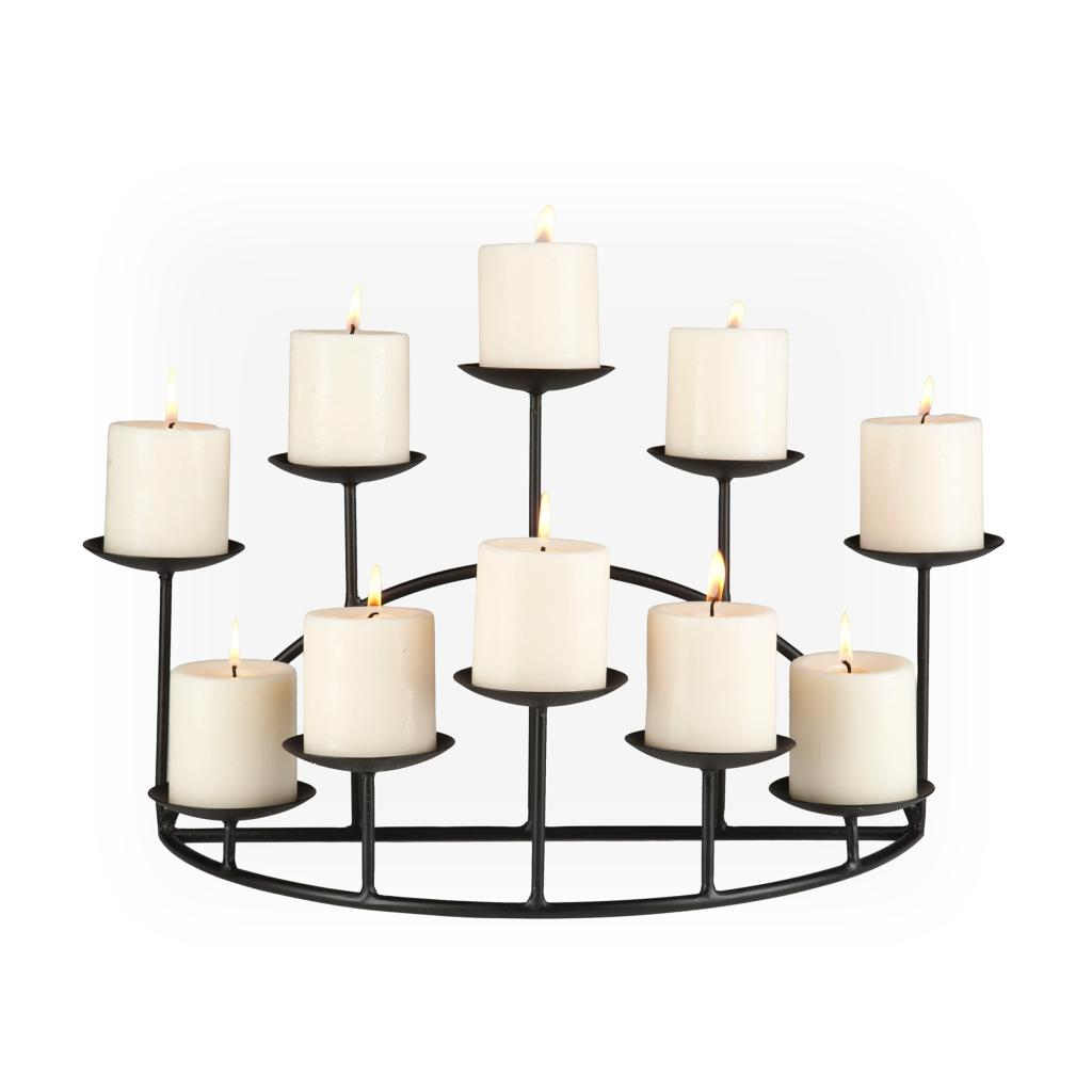 Amazon Com 10 Candle Metal Candelabra Fireplace Candle