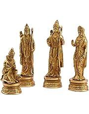 Modfash Ram Sita Laxman Hanuman standbeeld hindoeïstische God beeldje messing metalen beeldhouwkunst Ram Darbar Idol Murti Hoogte voor Mandir -7 Inches Big Home Decor