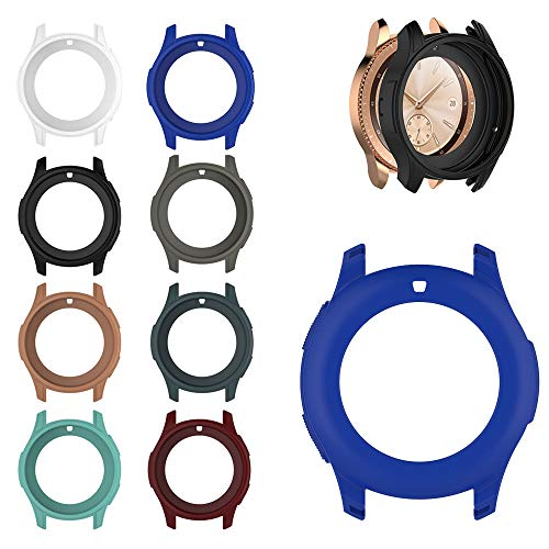 Aloena Samsung Watch Case 42mm, Soft TPU Protection Silicone Full Case Cover For Samsung Galaxy Watch 42MM