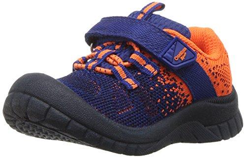 Oshkosh B'Gosh  Boys' Twister Bumptoe Sneaker, Navy/Orange, 5 M US Toddler