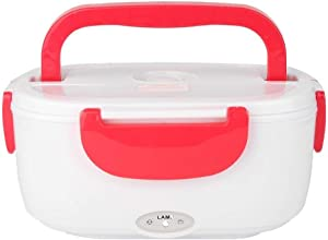 Tongxianshigaoqiaozixinbaihuoshanghang-us Electric Lunch Box With Spoon Portable Electric Heating Food Heater Lunch Box Office Lunch Box (Color : Red, Number of Tiers : 110v GB Plug)
