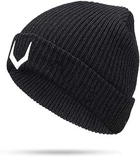 WTTTL Cappello a magliaBerretto in Maglia Tinta Unita Berretto Invernale da Uomo Boy Warm Plus Velluto Cappuccio di Protezione Addensato, D