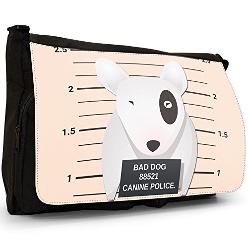Messenger Black Police Large Bad Bag of Bag Bull School Shoulder Canine Laptop Naughty Lineup Canvas Dogs Bully Terrier English H0RxwHp8q