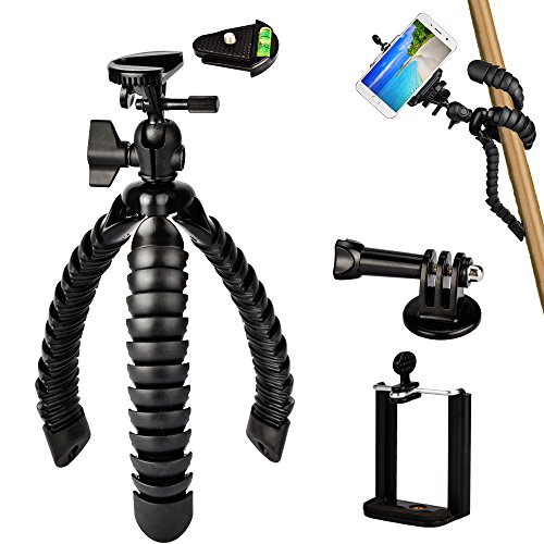 3 in 1 Universal Flexible Tripod 12'' Stand Holder Wrapable