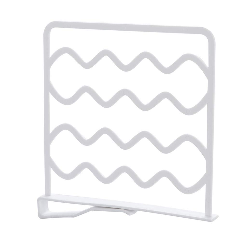 Closet Shelf Dividers - Wardrobe Partition Shelves Divider- Clothes Wire Shelving Divider -Separator for Closets, Wood Shelves, Kitchen Cabinets, and Libraries (White)