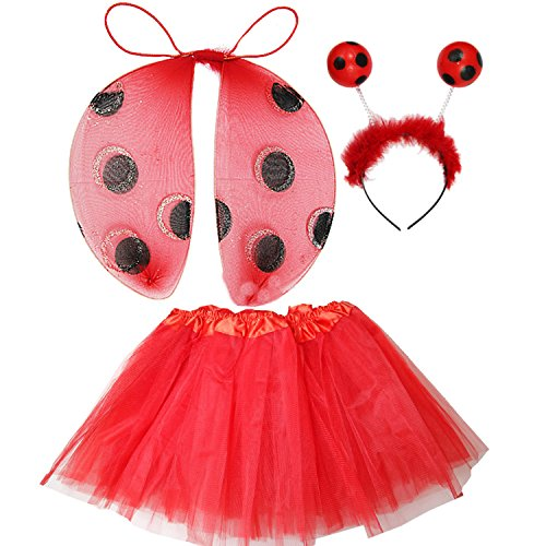 Kirei Sui Kids Costume Tutu Set Ladybug (Ladybug Tutu Costume)