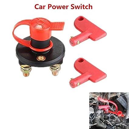 Haihuic Batterietrennschalter Mit 2 Removable Keys Batterietrenn Cut ...