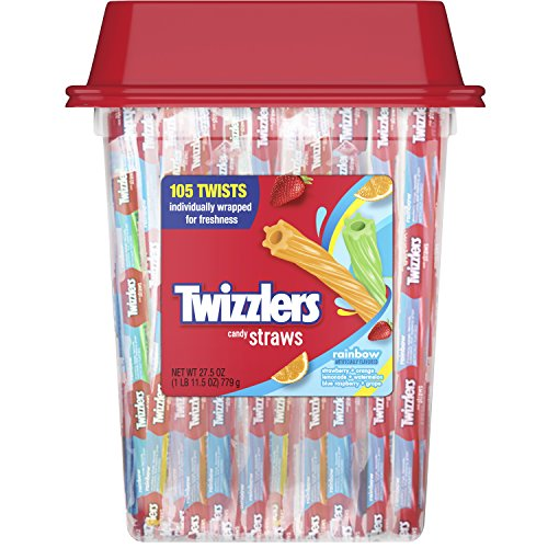 TWIZZLERS Rainbow Twists Licorice Candy, 105 Count (Twizzlers Watermelon)