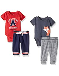 Baby Boys' 4-Piece Bodysuit and Pant Set