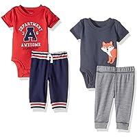 Baby Boys' 4-Piece Bodysuit and Pant Set