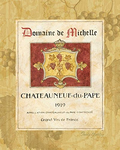 HeritageArtDecor Chateauneuf du Pape - Fine Art Print on Canvas Home Decor Print 16 x 20 Inch - Home Decor Wall Art Painting Canvas Print ONLY -NO Frame