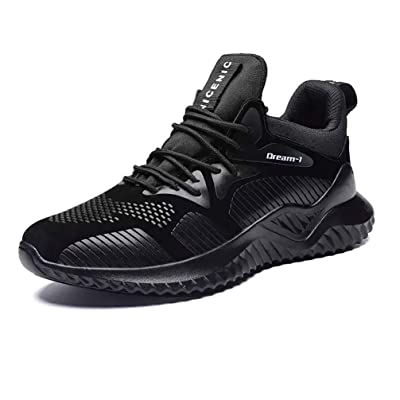 JHY Tennis Shoes for Mens, Walking Shoes Fashion Super Soft Lightweight Sneakers Black | Fashion Sneakers