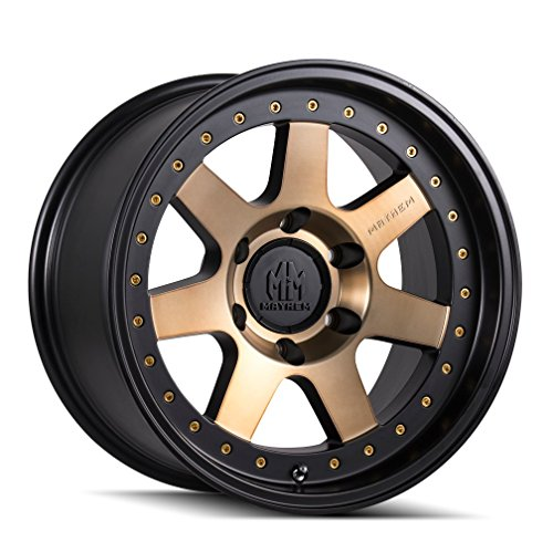 MAYHEM PRODIGY (8300) MATTE BLACK W/BRONZE TINT: 17x9 Wheel Size; 5-127 Lug Pattern, 78.1mm Bore, 6mm Offset.