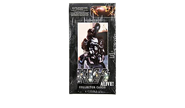 Trading Card Collector Pack Box 36 Packs per box 7 Cards per Pack NECA KISS Alive