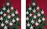 Beadery Holiday Beaded Ornament Kit, 2-Inch, Mini Snowflakes, Makes 24 Ornaments (2-Pack)