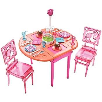 Amazon Com Barbie Glam Vanity Play Set Pink Toys Amp Games