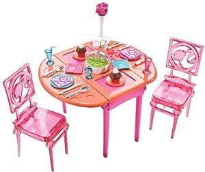 barbie dining room set | Amazon.com: Barbie Dinner To Dessert Dining Room Set: Toys ...