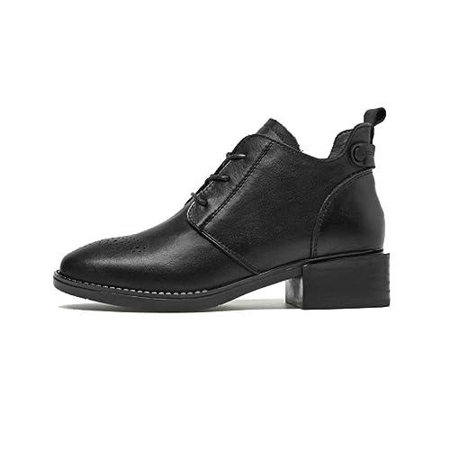 ZPEDY Los Zapatos Bullock para Mujer, Los Botines Martin Sencillos Europeos Y Americanos, Los Botines De Moda para Mujer.: Amazon.es: Zapatos y complementos