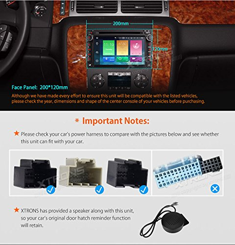 XTRONS 7 Inch Android 6.0 Octa-Core Capacitive Touch Screen Car Stereo Radio DVD Player GPS CANbus Screen Mirroring Function OBD2 Tire Pressure Monitoring for GMC Chevrolet by XTRONS (Image #3)