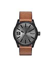 Diesel Men's 'Rasp' Quartz Stainless Steel and Leather Automatic Watch, Color:Brown (Model: DZ1764)