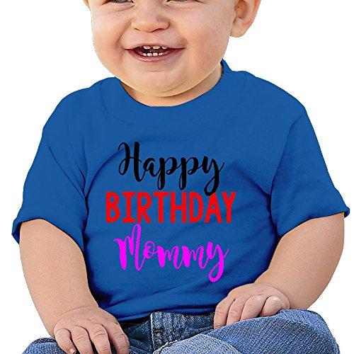 Wuliddf7d8d Baby Happy Birthday Mommy Fashion Round Neck Tee Shirt