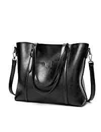 Designer Handbags Purses for Women Leather Top Handle Shoulder Bags with Adjustable Long Strap
