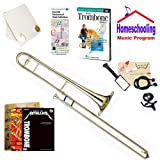 Homeschool Music - Learn to Play the Trombone Pack (Rock Music Book Bundle) - Includes Student Trombone w/Case, DVD, Books & All Inclusive Learning Essentials
