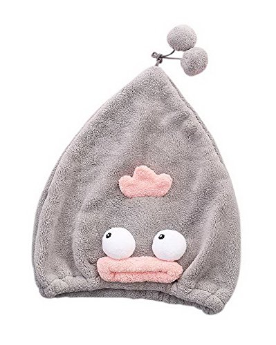 Super Absorbent Adult Drying Hair Cap Quick-drying Dry Hair Cap Lovely Gray Duck by Gentle Meow