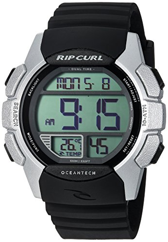 Rip Curl Men's Quartz Plastic and Polyurethane Sport Watch, Color:Black (Model: A2982-SIL) by Rip Curl