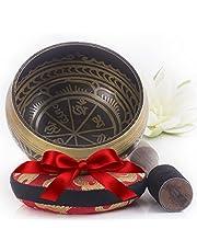 Silent Mind ~ Cuenco Tibetano de Diseño Hermoso~ Genial para Meditación, relajación, estrés y ansiedad alivio, Sanación del Chakra, Yoga, Zen ~ Regalo Espiritual Perfecto