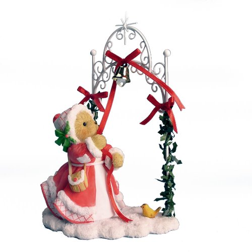 Enesco Cherished Teddies Collection Girl Ringing Bell 20th Anniversary Figurine