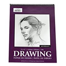 Jack Richeson 18-Inch-by-24-Inch Drawing Paper Pad, 30-Sheet Spiral