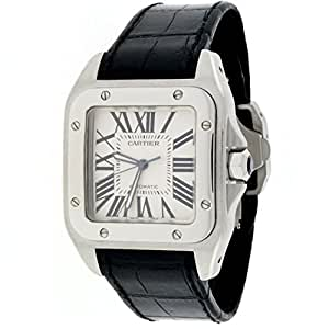 Cartier Santos 100 automatic-self-wind mens Watch W20073X8 (Certified Pre-owned)
