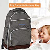 Multi-Function Diaper Bag Backpack with Changing Pad, Large-Capacity Travel Nappy Changing Totebag for Baby Care, Durable and Stylish Organizer