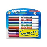 Image of EXPO Low-Odor Dry Erase Markers, Fine Tip, Assorted Colors, 8-Count