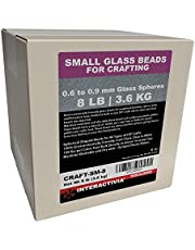 8 lbs or 3.6 kg of Craft Glass Beads Microspheres for Weighted Blankets, Stuffies, Reborn Dolls, Sensory Crafts