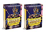 Dragon Shield Bundle: 2 Packs of 60 Count Japanese Size Mini Matte Card Sleeves - Matte Purple